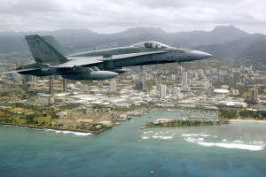 CF-18 Hornet Over Hawaii.