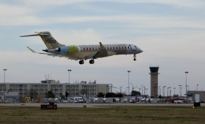 Bombardier Global 7000 Landing in Wichita, Kansas. Photo: Bombardier.
