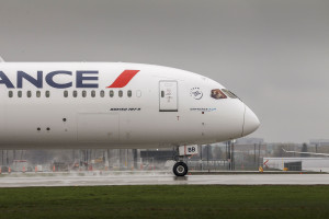 Aéroport de Montréal- Arrivée du Boeing 787-9 Dreamliner d'Air France. Photo: Air France.